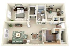 Elan house model - House and home design 3d House Plans, A Frame House Plans, Small House Plans, House Floor Design, Sims House Design, House Outline, Apartment Floor Plans, Apartment Layout, House Inside