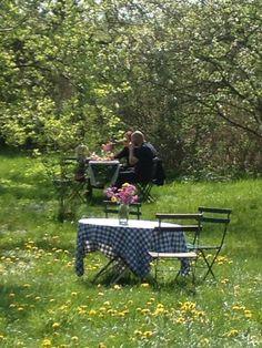 Cafe garden at Fuiglebjerggaard