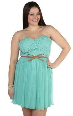 White & Blue Strapless Plus Size Sundress Item# PSDR103 $32.00 ...