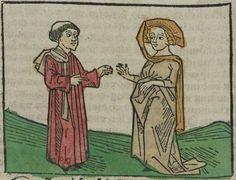 Andreas / Hartlieb, Johannes: Das buoch Ouidy von der liebe zu erwerben. auch die liebe zeuerschmehen Augsburg, 1482 Ink A-486 - GW 1760  Folio NP