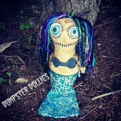 Dumpster Dollies OOAK Creepy Art Doll, Creepy Doll, Voodoo Doll, Mermaid by DumpsterDolliesShop on Etsy