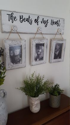 farmhouse decor have to be white decor for dining room decor ideas kitchen farmhouse decor can farmhouse decor decor dropshippers decor diy decor picture frames Valentine Gifts For Mom, Dog Picture Frames, Do It Yourself Decoration, Rustic Decorations For Home, Rustic Home Decorating, Room Decorations, Rustic Pictures, Rustic Frames, Picture Hangers