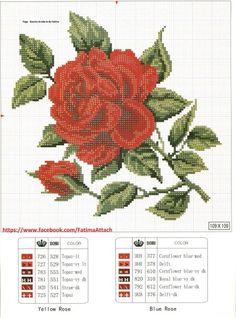Red Rose 2 of 2 Cross Stitch Pillow, Cross Stitch Bird, Cross Stitch Flowers, Cross Stitch Charts, Cross Stitch Designs, Cross Stitching, Cross Stitch Embroidery, Cross Stitch Patterns, Cross Stitch Numbers