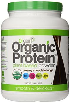 Orgain Organic Protein Plant-Based Powder, Creamy Chocolate Fudge, 2.03 Pound. Specially formulated to avoid the grittiness and bitter aftertaste often associated with plant-based proteins, Orgain organic protein is the smoothest and most delicious organic protein powder available.