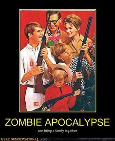 Nada melhor pra unir a família do que atirar em cabeças de zumbis :-)