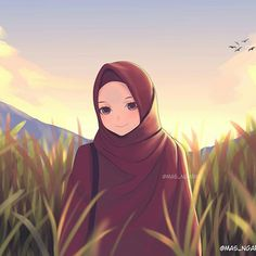 The actual scarf is the most important portion from the apparel of females using hijab. Girl Cartoon, Cartoon Art, Muslim Images, Hijab Drawing, Islamic Cartoon, Anime Muslim, Hijab Cartoon, Islamic Girl, Mode Hijab