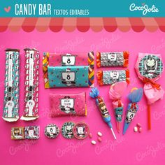 Imprimible Personalizable Monster High Candy Bar