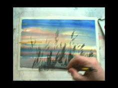 Wow! What could be more beautiful than dry grasses against a gorgeous sunset....and the birds give it that final punch!......Love it! Sunset-watercolor-demo-Sterkhovart