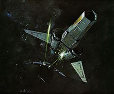 Ralph McQuarrie's Battlestar Galactica concept art