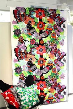 """""""Matka Paratiisiin"""" fabric by Maija Louekari. Marimekko 2014"""