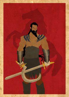 Khal Drogo Poster by Procastinating.deviantart.com on @DeviantArt