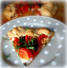 A Goat's Cheese, Tomato and Olive Tart