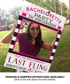 Everyone will love taking pictures with this prop at your Bachelorette Party! We also have bachelorette party games and more at https://www.etsy.com/shop/CreativeUnionDesign?ref=l2-shopheader-name&section_id=19532432 #bacheloretteparty #bachelorettepartyideas #lastflingbeforethering #weddingideas #wedding #girlsnightout