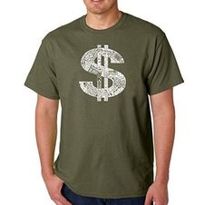 Men's Graphic Novelty T-shirt Tees American Apparel Soft Fine Cotton -  Dollar - Military