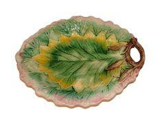 Majolica Leaf Platter at St. Martin's Gallery, Jackson, Mississippi.
