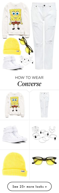 """Untitled #1383"" by dashareus on Polyvore featuring Forever 21, Edit, Neff, Converse, women's clothing, women, female, woman, misses and juniors"