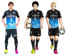 L'équipe de #foot des #KawasakiFrontale va avoir le droit à un #maillot en édition limitée aux couleurs de la série #SpaceBrothers. #manga #maillotdefoot #maillot #sport