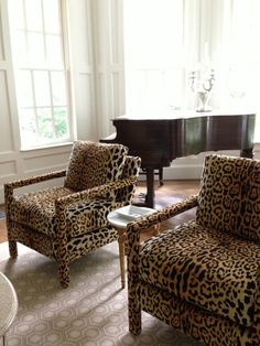 From The Right Bank Jamil Fabric Parson Chairs