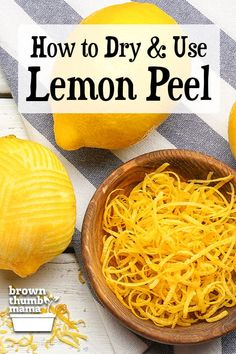 Don't throw away those lemon peels. It's easy to dry lemon peels for use in cooking, cleaning and body care (yes, really! Lemon Water Health Benefits, Lemon Benefits, Empanadas, Hot Lemon Water, Drinking Lemon Water, Lemon Uses, Dried Lemon, Dehydrated Food, Dehydrator Recipes