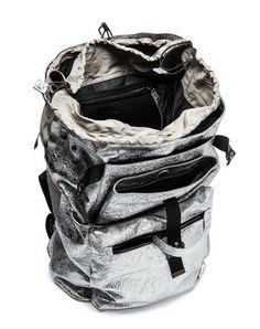 silver backpack internals