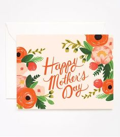 REVEL: Peach Mother's Day Card