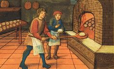 Bread Makers from a short piece about cooking and dining in the Middle Ages  (dmorton.ca)