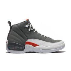 Air Jordan 12 Cool Grey White Team Orange 130690-012 This site sells  Air Jordan  shoes half off!