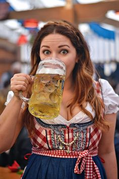 All-inclusive camping accommodation in Munich for Springfest, the other Oktoberfest and known as Fruhlingsfest in German. Beer Festival Outfit, Festival Outfits, German Girls, German Women, Octoberfest Girls, Drindl Dress, Beer Maid, Beer Girl, German Beer