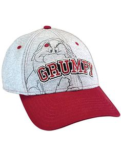 purchase cheap 9f423 1f058 Disney Men s Hat Grumpy Baseball Cap Grumpier (Grey)