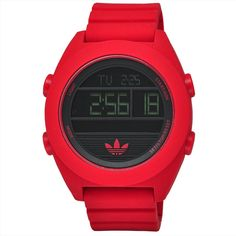Adidas Men's ADH2909 XL Santiago Red Digital Watch | Overstock.com Shopping - The Best Deals on Adidas Men's Watches