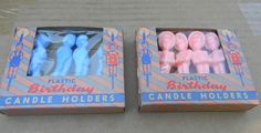 vintage best toy BIRTHDAY PARTY CANDLE holders