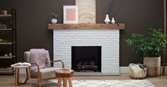 Paint Fireplace, Brick Fireplace, Fireplace Ideas, Room Paint Colors, Paint Colors For Living Room, Orange Brick, Home Staging, Old Houses, Decorating Tips