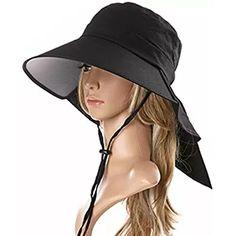 9d5af6f8b25 Ls Lady Womens Summer Flap Cover Cap Cotton Anti-UV UPF 50+ Sun Shade