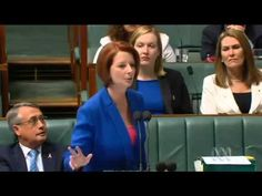 Julia Gillard's Speech Over Opposition's Sexism, Misogyny. The kind of passionate speech that I wish I saw more of in government here in the U.S.