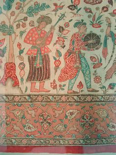 Cover - ca. 1640–50 - India, Deccan, Golconda - Cotton; plain weave, mordant painted and dyed, resist dyed