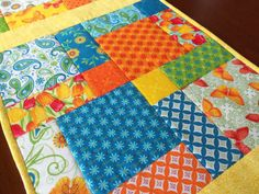 Butterflies and Tulips Quilted Table Runner by homesewnbychristine