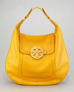 Tory Burch, Amanda Flat Hobo, Bright Yellow, $465