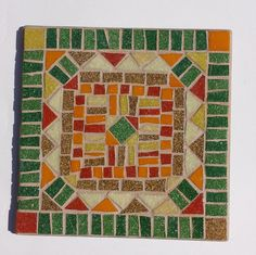 OOAK item. Inspired by the beautiful handmade quilts I was admiring at a quilt show recently. This one is in Fall colors but I will be making more in different patterns and colors. Perfect for Thanksgiving table, looks beautiful on a counter or can be hung in a plate holder on the wall.