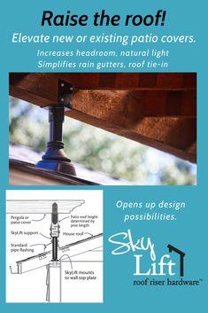 Deck With Pergola, Patio Roof, Pergola Patio, Backyard Patio, Outdoor Spaces, Outdoor Living, Covered Patio Design, Fresco, Backyard Retreat