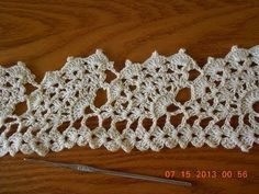 Crochet Orilla Abanicos Grandes - YouTube