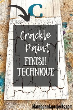 Have you seen that really neat paint finish with the cracks and breaks in the paint? Well you can achieve the crackle paint finish with just white school glue and paint! I'll show you the easiest way to do this fun DIY paint finish, and you'll learn how the look of the cracks can be changed depending on the thickness of paint and glue that you use. Diy Furniture Redo, Diy Furniture Projects, Diy Projects, Crackle Painting, Diy Painting, White Chalk Paint, Fun Activities For Kids, Diy Signs, Paint Finishes