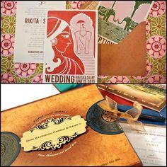 Vintage Wedding Cards. #Wedding #WomenTriangle www.womentriangle.com
