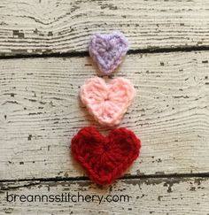 How to Crochet a Heart in 3 Sizes