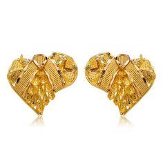 Par de Brinco Alshahba Coração de Ouro - - Medalhão Persa