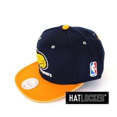 Indiana Pacers Tip Off Snapback by Mitchell & Ness   Find it at www.hatlocker.com #nba #pacers #snapback #mitchellness