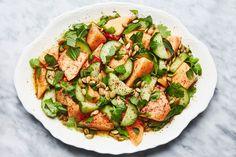 Roasted Pumpkin Seeds, Roast Pumpkin, Watermelon Salad, Cucumber Salad, Summer Salad Recipes, Summer Salads, Bon Appetit, Salads To Go, Fruit Salads