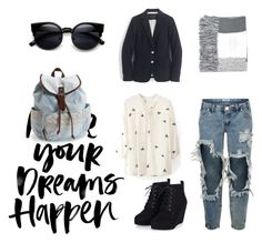 """""""London, here we goo!!!"""" by fashionized-m ❤ liked on Polyvore featuring One Teaspoon, Aéropostale, J.Crew, Topshop, women's clothing, women, female, woman, misses and juniors"""