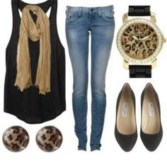 Wicked cute with a blazer or cardigan for the fall:)