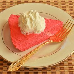 Wha??? Two-Ingredient Sugar-Free Raspberry Yogurt Pie Recipe using greek yogurt and boxed jello mix