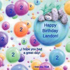 Happy 2nd Birthday, Landon! ❤️ Trudi  5/3/15
